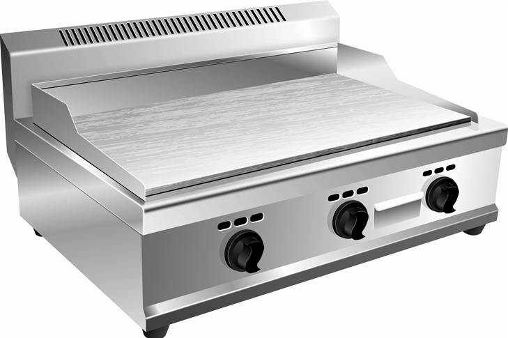Table top flat gas griddle 70 cm