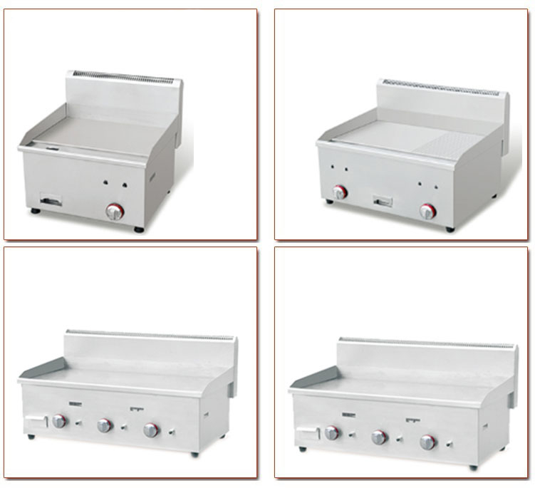Table top gas griddle Aceplus series