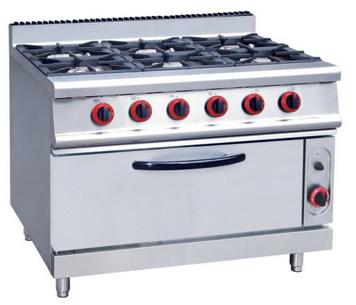 6 burners gas with oven