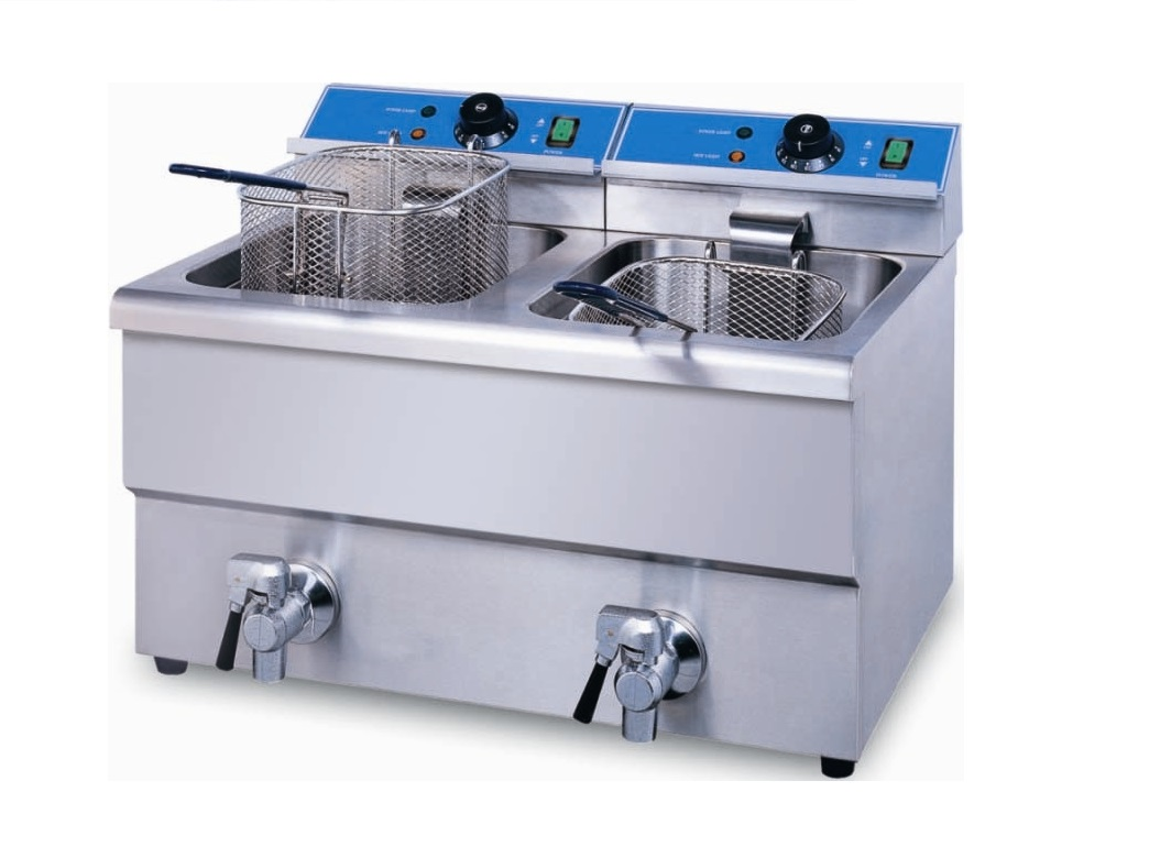 Double table top Automatic  gas fryer