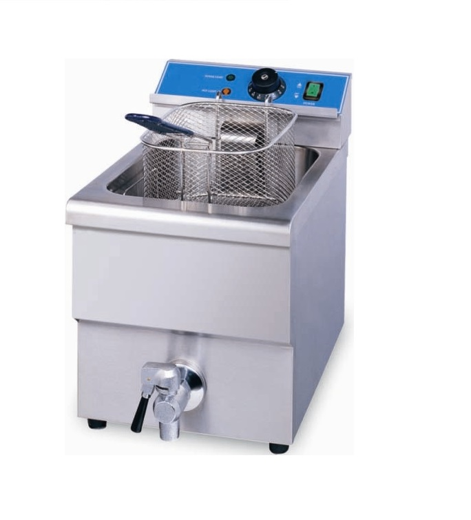 Single table tob automatic gas fryer