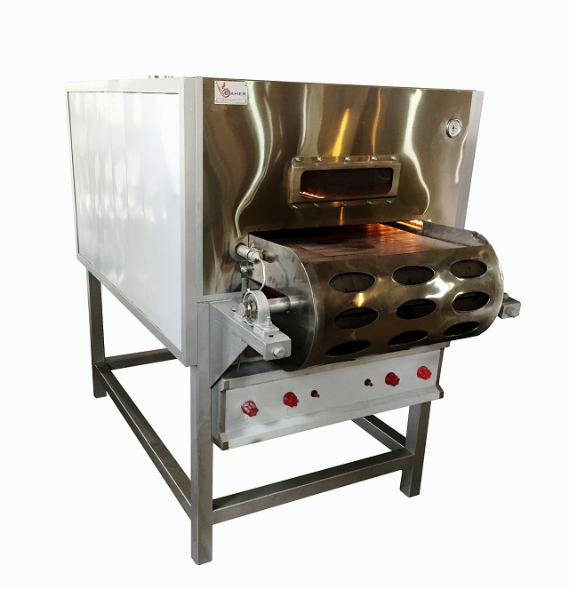 Tunnel gas oven for pizza